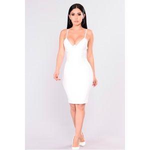 Fashion Nova Self Portrait Latex Dress white